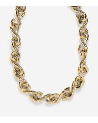 Cole Haan | Metallic Metal Logo Link Necklace | Lyst