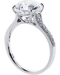 Carat* | Metallic Elegant Round 3.5ct Microset Ring | Lyst