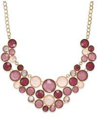 INC International Concepts | Purple Gold-tone Mauve Circle Bib Necklace | Lyst
