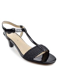 Adrienne Vittadini | Black Catori Leather Sandals | Lyst