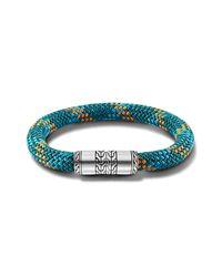 John Hardy | Station Bracelet On Green Sailing Cord for Men | Lyst