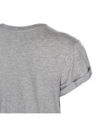 Paul Smith - Blue Women's Grey Marl 'scribble Floral' Print T-shirt - Lyst