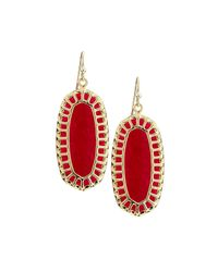 Kendra Scott | Red Dayla Oval Earrings | Lyst