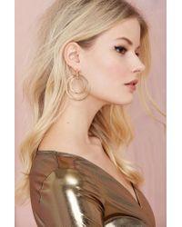 Nasty Gal | Metallic Hooped Up Earrings | Lyst