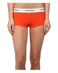 Calvin Klein | Red Modern Cotton Boyshort | Lyst
