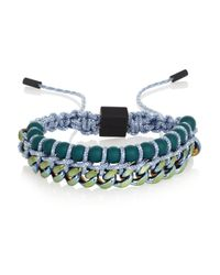 Proenza Schouler Green Guru Anodized Brass Bracelet