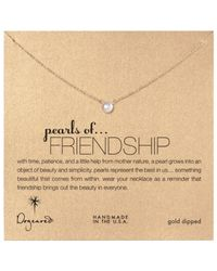 Dogeared - White Gold Filled Silver Pearls Of Friendship Necklace - Lyst