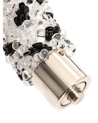 Balenciaga - White Raindrop Bead-Embellished Bracelet - Lyst