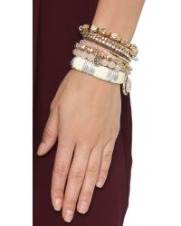 Samantha Wills - Metallic Wolrd Form Here Bracelet Set - Antique Gold Multi - Lyst