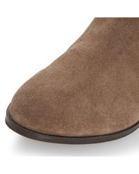 Dune | Brown Relissa Suede Slouch Calf Boot | Lyst