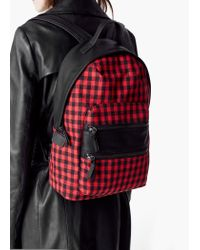 Mango | Red Zipped Backpack | Lyst