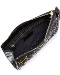 Nancy Gonzalez - Black Crocodile Animal-pattern Wristlet Clutch Bag - Lyst