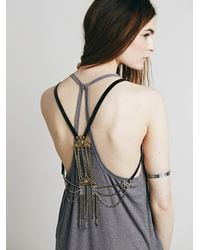 Free People - Black Brixton Harness Vest - Lyst