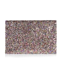 Anya Hindmarch - Multicolor Valorie Glitter-finish Leather Clutch - Lyst