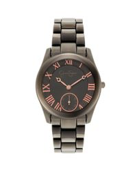 Jessica Simpson - Gray Womens Gunmetal Ionplated Bracelet Watch 38mm Js032e - Lyst