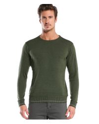 Michael Stars | Green Crew Neck Sweater With Tipping for Men | Lyst