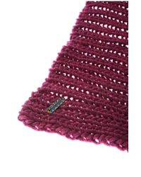 BOSS Orange - Pink Knitted Scarf In Fabric Blend: 'naresi' - Lyst