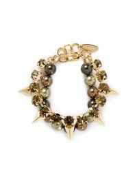 Joomi Lim | Metallic Arrowhead Spike Crystal Faux Pearl Bracelet | Lyst