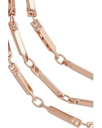 Eddie Borgo - Pink Rose Gold-plated Necklace - Lyst