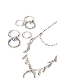 Forever 21 - Metallic Leaf Hand Chain Set - Lyst