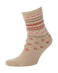 Falke - Natural Norwegian Ankle Socks - Lyst