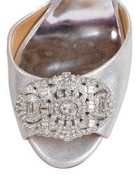Badgley Mischka | Sari-ii Metallic Strappy Evening Shoe | Lyst