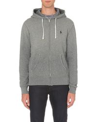 Ralph Lauren | Gray Logo-embroidered Jersey Hoody for Men | Lyst