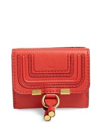 Chloé | Red 'marcie' French Wallet | Lyst