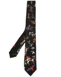 Valentino   Black Cupid Print Tie for Men   Lyst
