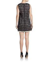 Shoshanna - Black Karen Florallace Shift Dress - Lyst