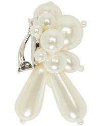 Simone Rocha - White Pearl Cluster Clip_on Earrings - Lyst