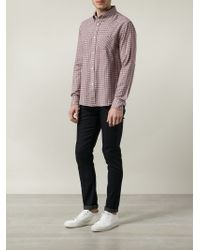Band of Outsiders - Red Checked Shirt for Men - Lyst