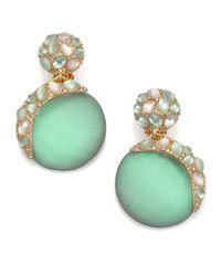 Alexis Bittar - Green Vert D'Eau Lucite & Crystal Dangling Sphere Clip-On Earrings - Lyst
