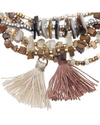 John Lewis | Multicolor Bead And Tassel Stretch Bracelet | Lyst