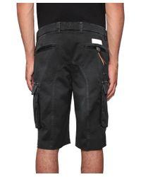 Saucony - Black Multi-pockets Cotton Bermuda Shorts for Men - Lyst