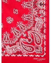 Saint Laurent - Red Neck Tie for Men - Lyst