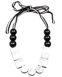 Marni - White Resin Bead Necklace - Lyst