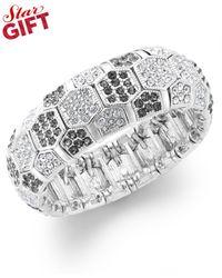 INC International Concepts | Metallic Crystal Pavé Stretch Bracelet | Lyst