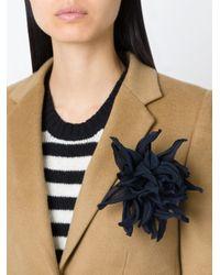 Erika Cavallini Semi Couture | Black Chrysanthemum Flower Brooch | Lyst