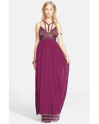 Free People | Purple 'Sacred Geometry' Maxi Dress | Lyst