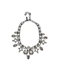 Oscar de la Renta | Metallic Pear Stone Necklace | Lyst
