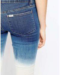RVCA - Blue Bleach Washed Skinny Jean - Lyst