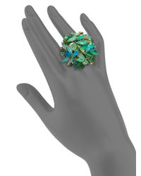 Aerin Erickson Beamon - Green Jeweled Cluster Ring - Lyst