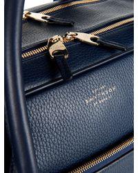 Smythson | Blue Burlington Leather Weekend Bag for Men | Lyst