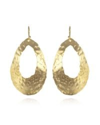 Wendy Mink | Metallic Hammered Oval Cutout Earrings | Lyst