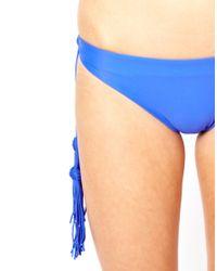 Seafolly | Blue Jazz Club Hipster Tie Side Bikini Pant | Lyst