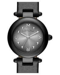 Marc By Marc Jacobs | Black 'dotty' Leather Strap Watch | Lyst