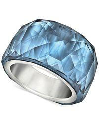Swarovski | Silvertone Montana Blue Crystal Ring | Lyst