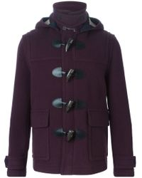 Burberry Brit - Pink Detachable Hood Duffle Coat for Men - Lyst