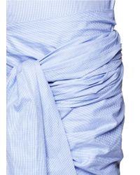 Stella McCartney | Blue 'martine' Wrap Sash Tie Houndstooth Shirt Dress | Lyst